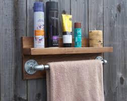 Rustic Industrial Bathroom by Industrial Towel Bar Etsy