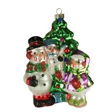 4 75 sparkle bright by radko festive snowman family glass