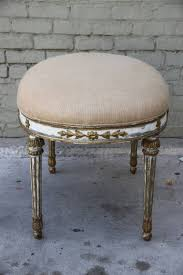 italian neoclassical style painted and parcel gilt bench melissa