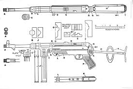 the blueprints com blueprints weapons machine guns mp40 draw mp40 draw