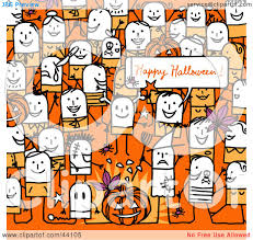 free halloween party clipart clipart illustration of a crowd of stick people at a halloween