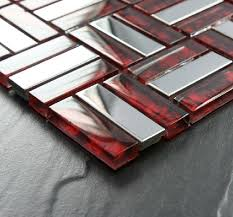 Red Mosaic Tile Backsplash by Brick Stainless Steel Mosaic Tile Glass Mosaic Kitchen Backsplash