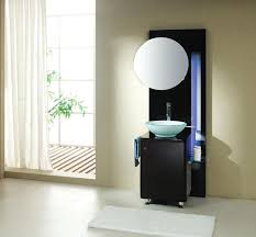 bathroom charming round mirror on minimalist modern bathroom