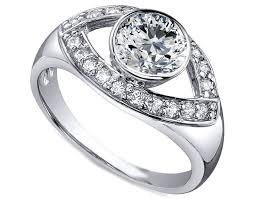 eye shaped rings images Engagement ring open eye diamond engagement ring in 14k white jpg