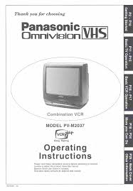 panasonic tv vcr combo pv m2037 user guide manualsonline com