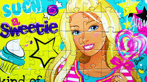 barbie jigsaw puzzle game doll games kids learning toys