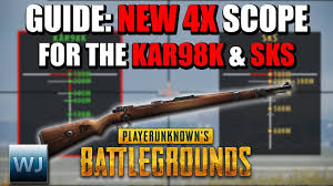 pubg kar98k guide how to use the new 4x scope with the kar98k sks in pubg