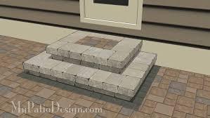 patio step design 2 cascading steps 48