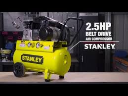 stanley air compressor belt drive 2 5hp 190lpm supercheap auto