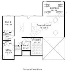 Daylight Basement House Plans by Mystic Lane Retirement House Plan Ranch Floor Plan
