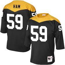 Pittsburgh Jack Jack Ham Men U0027s Elite Black Jersey Mitchell And Ness Nfl