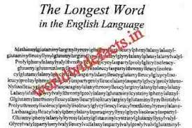 world wide facts longest word in the world