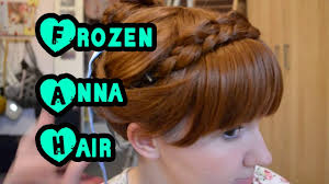anna from frozen hairstyle minah disney s frozen anna coronation hair pastel girls
