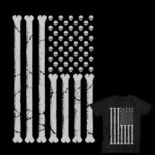 Cute American Flag Shirts American Skulls And Bones A Cool T Shirt By Binxent On Threadless