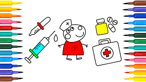 how to draw medical doctor kit for suzy sheep coloring pages