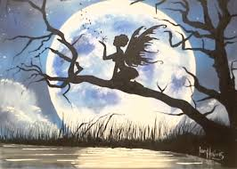 fairy moon silhouette youtube