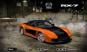 rx7 drift need for speed most wanted new mazda rx7 nfscars