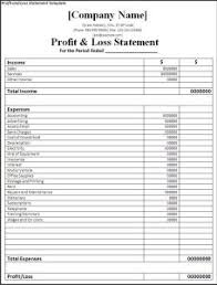 Simple Profit And Loss Excel Template Printable Profit And Loss Statement Free Word Templates