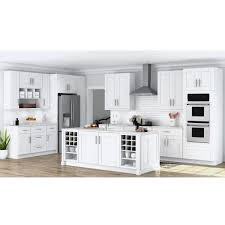 wall kitchen white cabinets hton bay shaker ready to install 64x30x12 in laundry