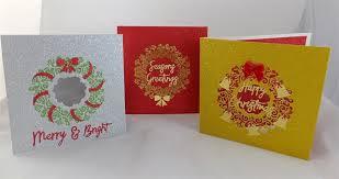 wreath glitter cards docrafts