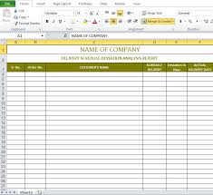 Construction Schedule Template Excel Delivery Schedule Template Excel Excel Templates