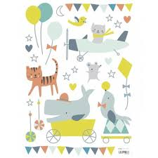 stickers animaux chambre bébé stickers animaux garçon lilipinso pour décorer la chambre d un bébé
