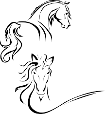 mustang horse silhouette silhouette of a horse zuljana by qasimali01 on deviantart