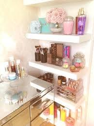 makeup dressers vanity shelves bedroom floating shelf vanity makeup organization