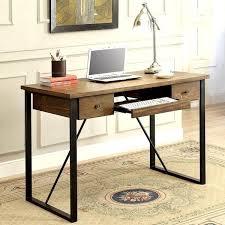 home office writing desk schevron mid century industrial rustic design home office computer