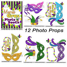 mardi gras photo booth mardi gras party photo booth props birthday party