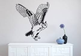Owl Wall Decor by Flying Owl Wall Decal Decor Majestic Animal Vinyl Sticker