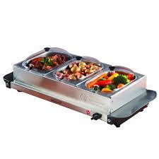 Oster Buffet Warmer by Brentwood Triple Buffet Server W Warming Tray Walmart Com