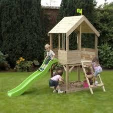 Backyard Cedar Playhouse by Playhouse With Slide Foter