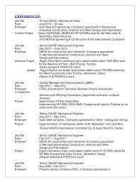 resume format exles for steel fabrication mechanical engineer sle resume
