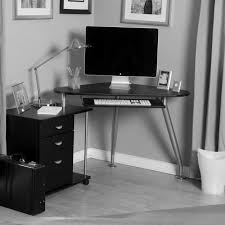 tech computer desk black furniture interior design photo ideas small hi tech styled