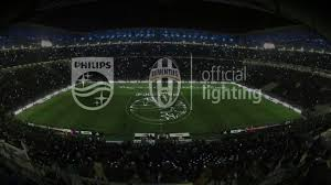 how tall are football stadium lights philips lights up juventus stadium youtube