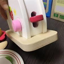 toaster kinderk che nette kinder baby frühstück pretend rolle spielen holz küche