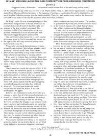 Sample Rhetorical Analysis Essay Ap English Ap English Language And Composition 2015 Free Response Questions Pdf