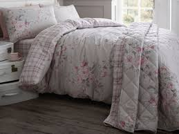 Catherine Lansfield Duvet Set Catherine Lansfield Canterbury Dove Grey Brushed Check Bedding
