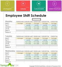 Weekly Employee Shift Schedule Template Excel Weekly Employees Duty Roster Format Excel Template124