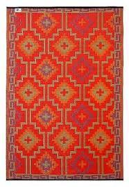 Plastic Kitchen Rugs Amazon Com Fab Habitat Lhasa Indoor Outdoor Rug Orange U0026 Violet