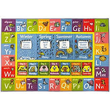 Abc Area Rugs Amazon Com Kids Rug Abc Animals Area Rug 5 U0027 X 7 U0027 Children Area