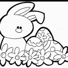 spring bunny coloring kids drawing coloring pages