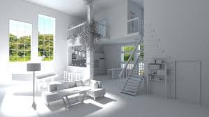 modern loft with living room kitchen and balcony 3d model obj