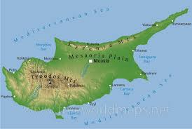 map of cyprus cyprus physical map