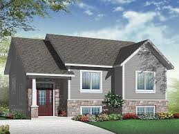 split entry house plans small house plans small split level home plan fits a narrow lot