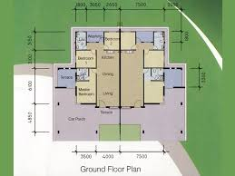 single storey semi detached house floor plan classy single story semi detached house plans 12 highland homes plan