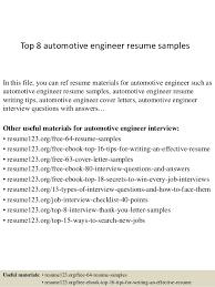 Resume Template For Engineers Top 8 Automotive Engineer Resume Sles 1 638 Jpg Cb 1428394591