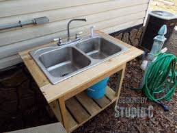 How To Change Kitchen Sink Faucet Build An Outdoor Sink Part Two U2013 Connecting The Water Supply