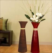living rooms design tall clear glass floor vases tall floor